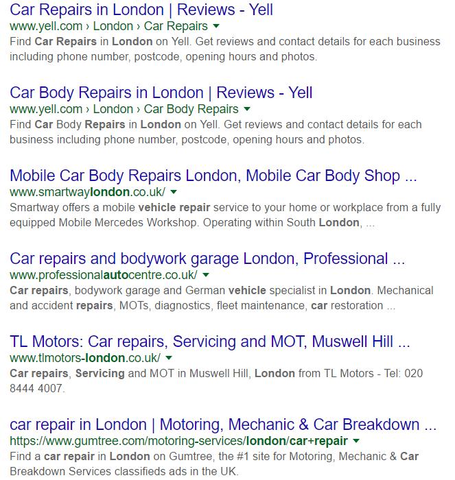 car repairs london - Google Search
